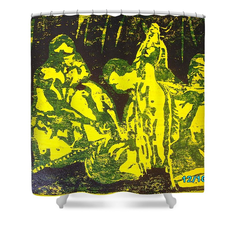 Festival Shower Curtain featuring the mixed media Argungun Festival 2 by Olaoluwa Smith