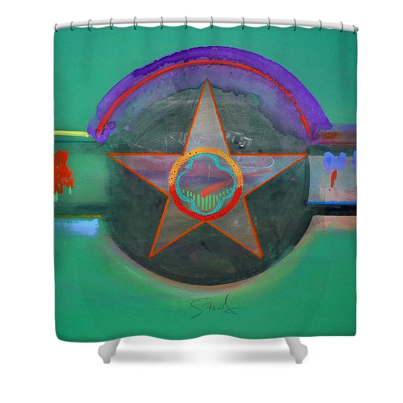 Star Shower Curtain featuring the painting Arlington Green by Charles Stuart