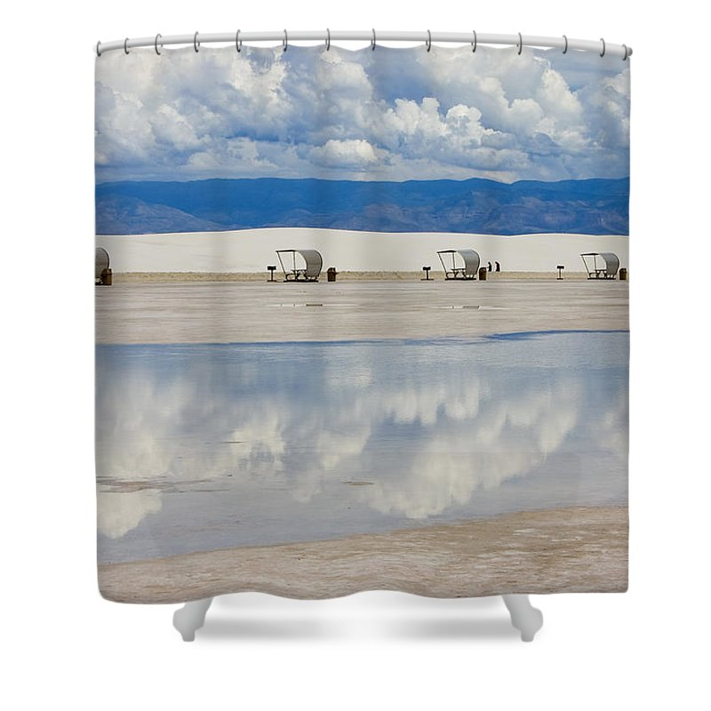 New Mexico Shower Curtain featuring the photograph Armageddon Picnic by Skip Hunt