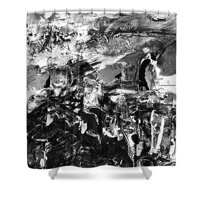 Abstract Shower Curtain Featuring The Painting Army Of Men
