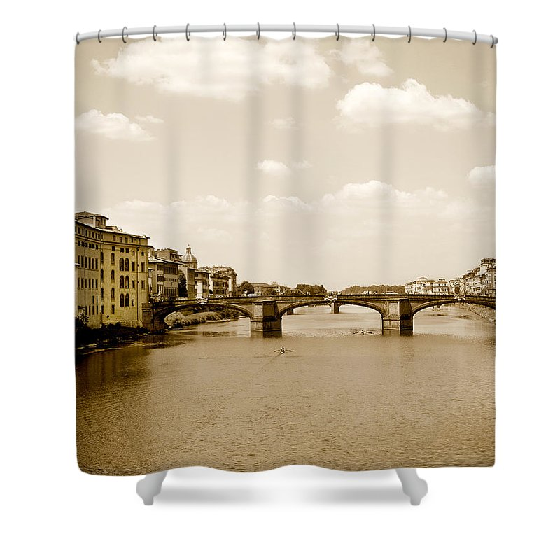 Italy Shower Curtain featuring the photograph Arno River Florence by Marilyn Hunt