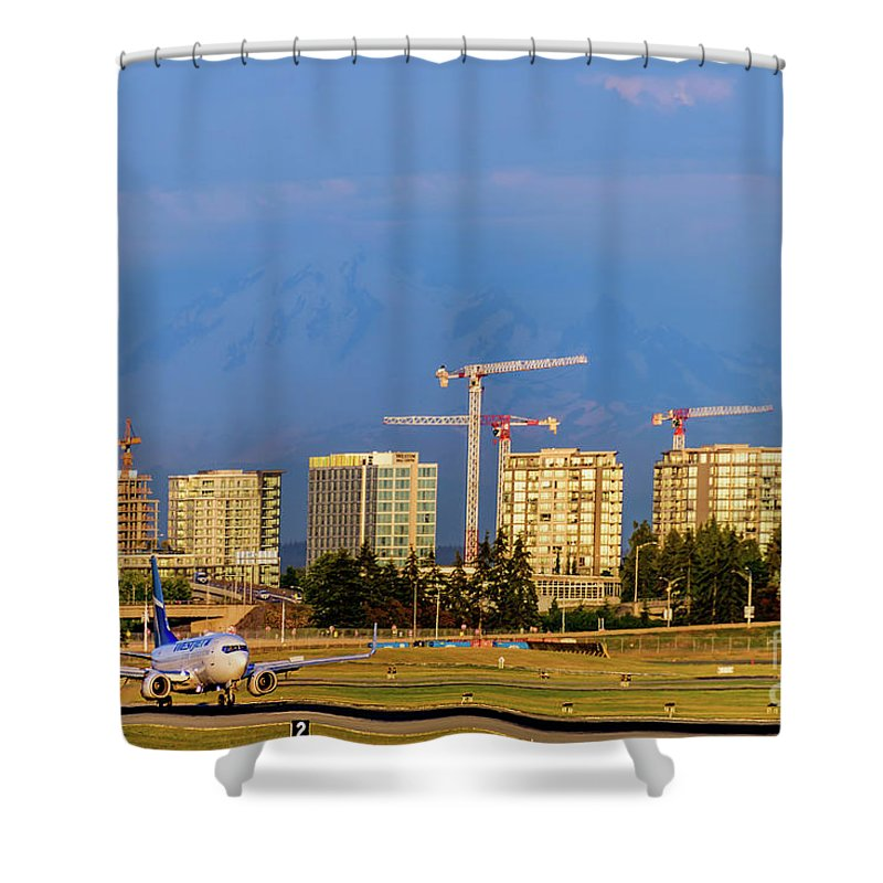 Arrival By Air Shower Curtain featuring the photograph Arrival By Air by Viktor Birkus