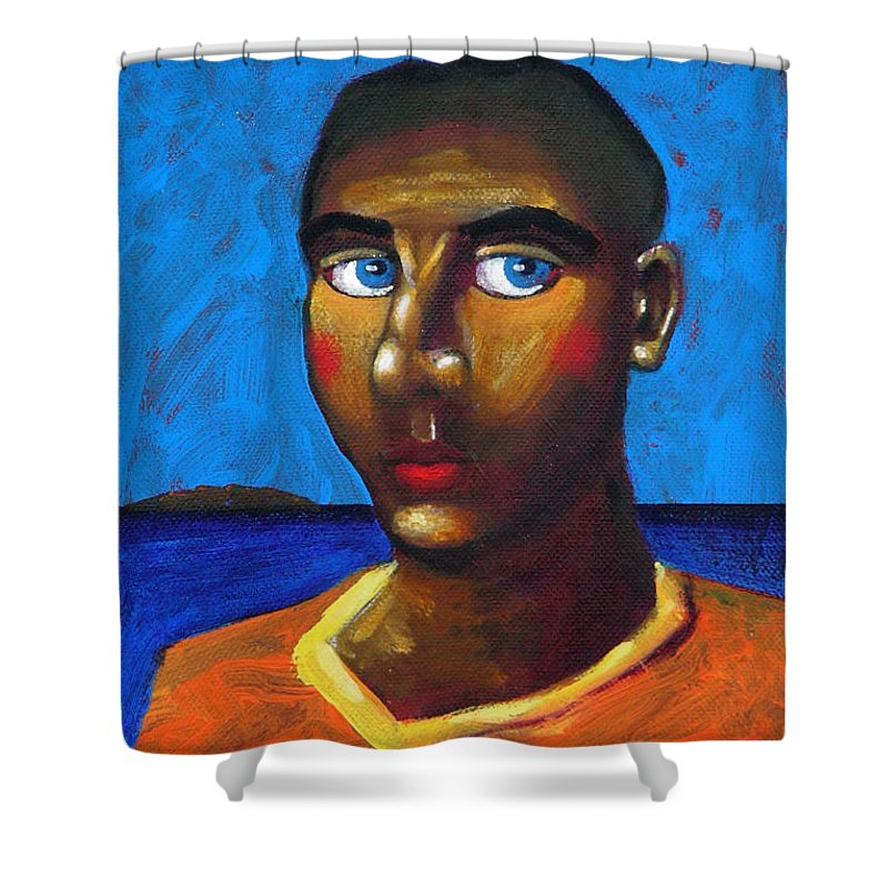 Arsonist Shower Curtain featuring the painting Arsonist by Dimitris Milionis