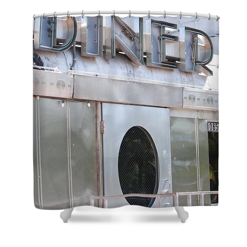 Architecture Shower Curtain featuring the photograph Art Deco Diner by Rob Hans