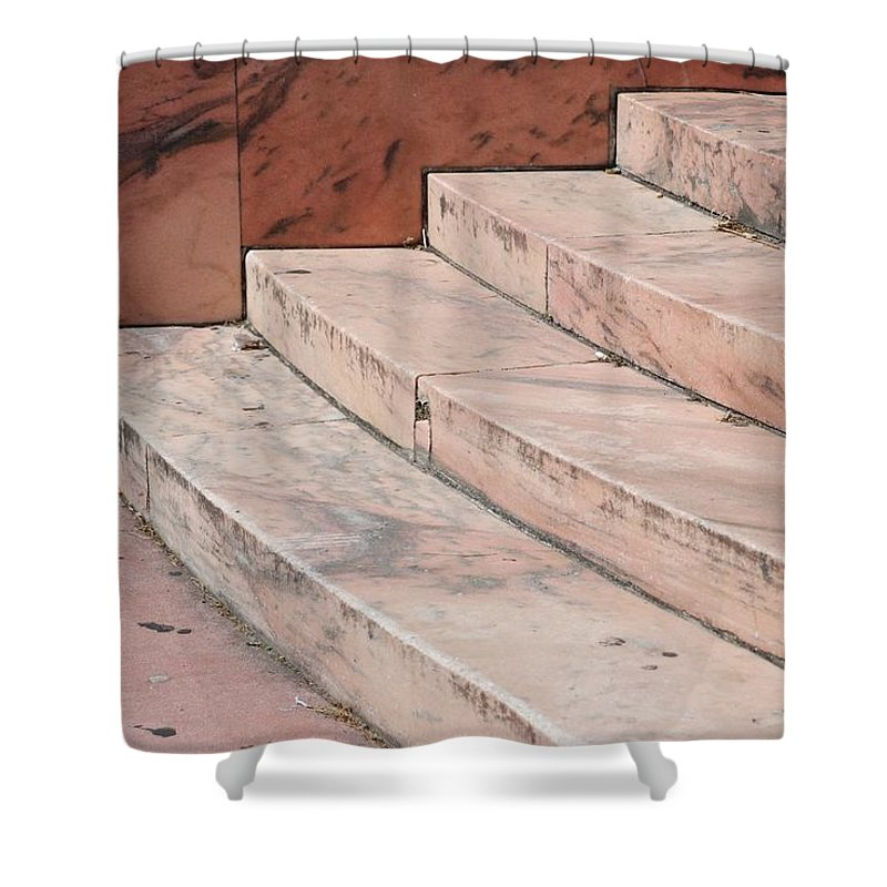 Architecture Shower Curtain featuring the photograph Art Deco Steps by Rob Hans