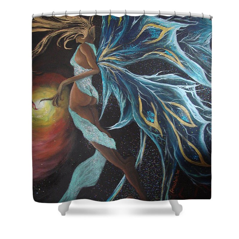 Figure Shower Curtain featuring the painting Art Is Magic by Glory Fraulein Wolfe