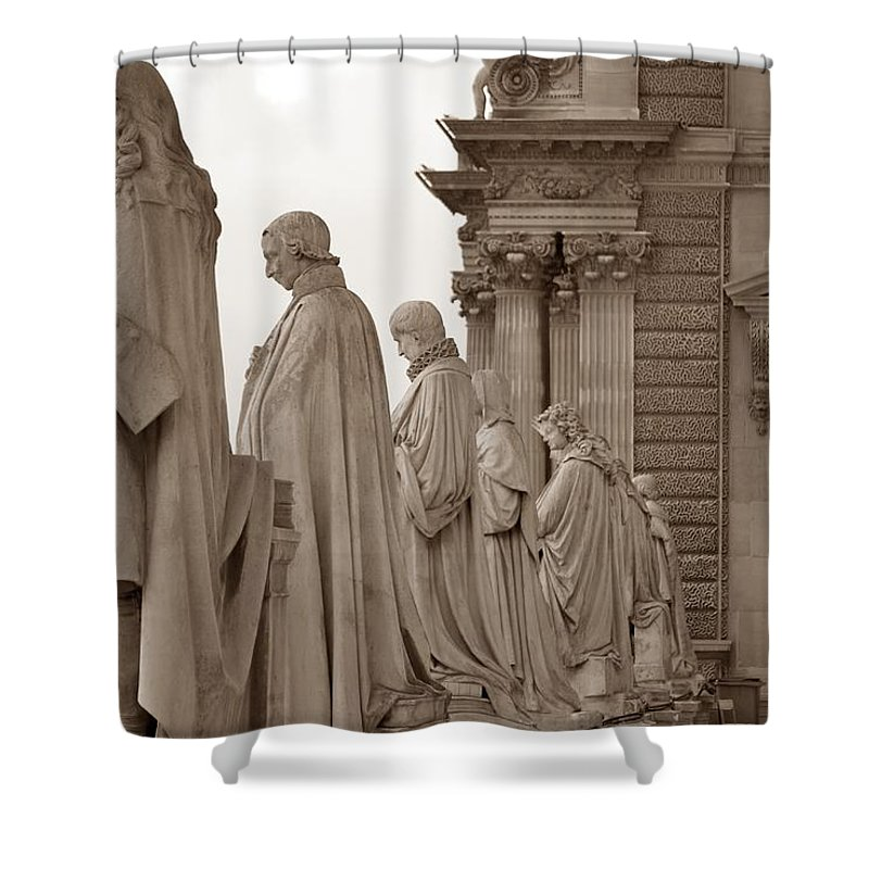 Paris Shower Curtain featuring the photograph Art Observing Life by J Todd