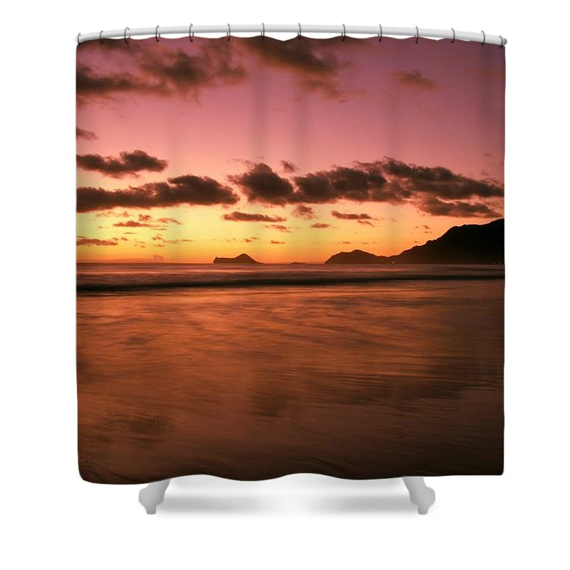 Dawn Shower Curtain featuring the photograph Art Of Balance by Mitch Cat