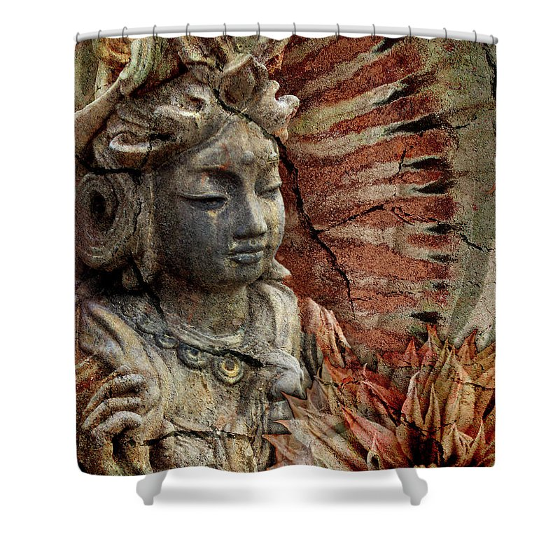 Buddhist Shower Curtain featuring the painting Art Of Memory by Christopher Beikmann