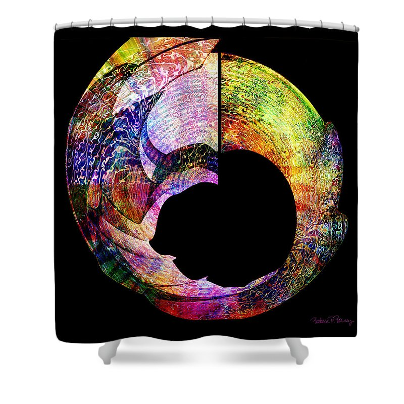 Colorful Shower Curtain featuring the digital art Artifact by Barbara Berney