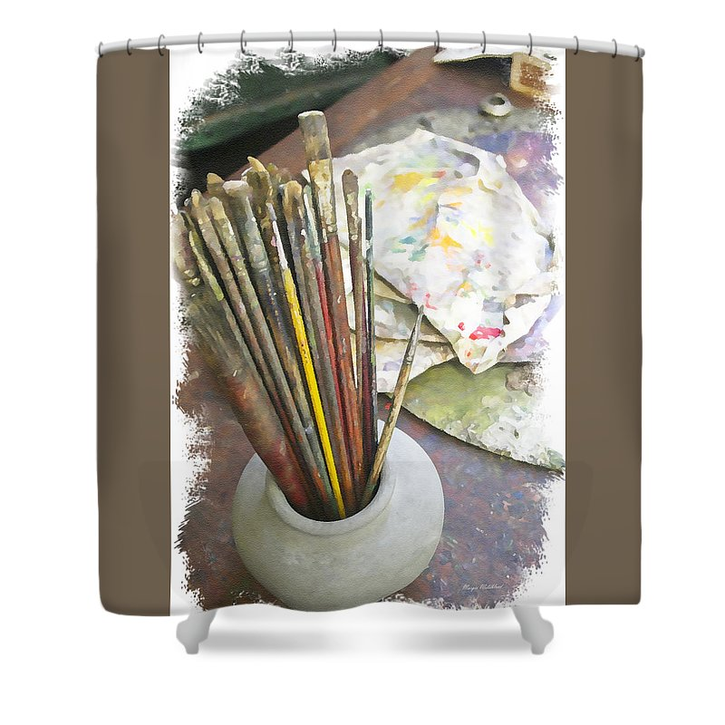 Artist Shower Curtain featuring the photograph Artist Brushes by Margie Wildblood