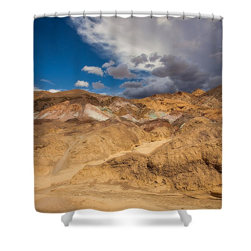Death Valley Shower Curtain featuring the photograph Artists Drive, Death Valley by Anne Christie