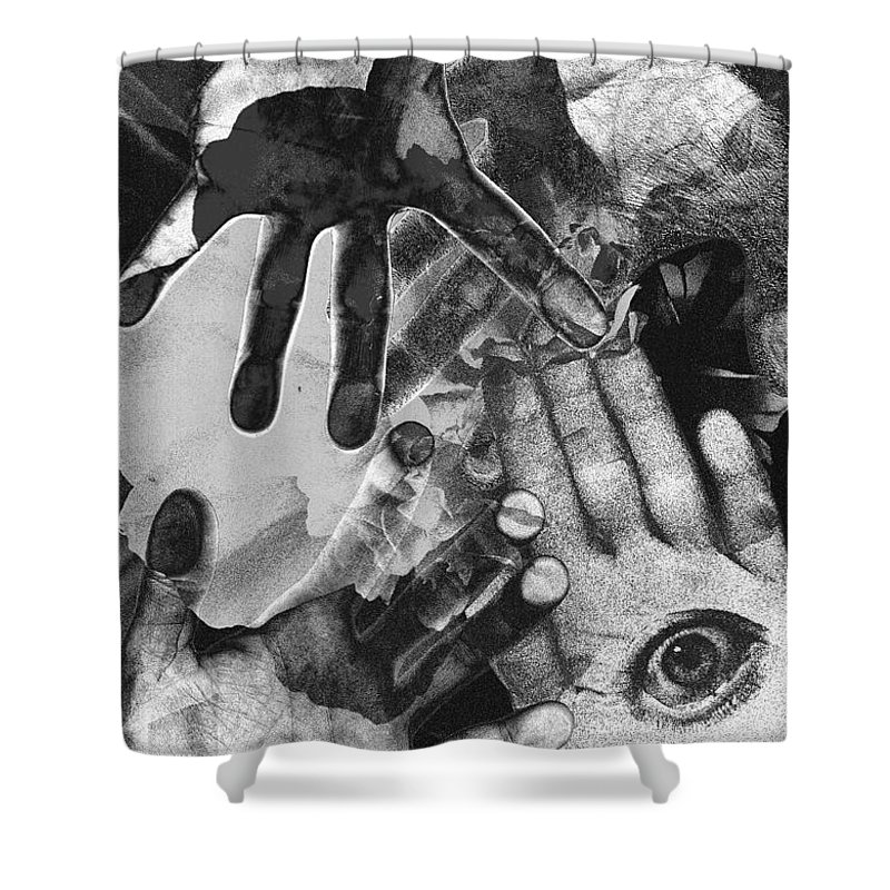 Hands Shower Curtain featuring the photograph Artist's Hands by Nancy Mueller