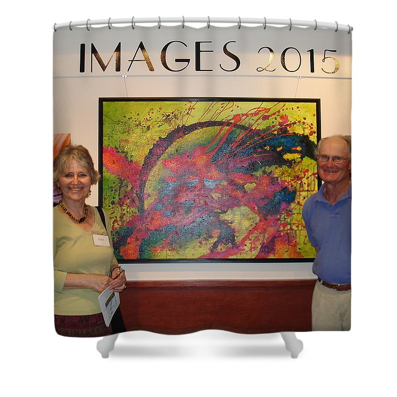 Shower Curtain featuring the painting Arts Fest. 2015 - Images Show by Susan Graham