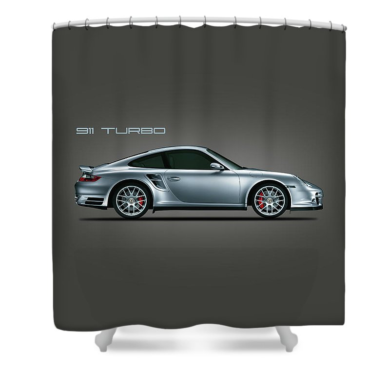 Porsche Shower Curtain featuring the photograph The Iconic 911 Turbo by Mark Rogan