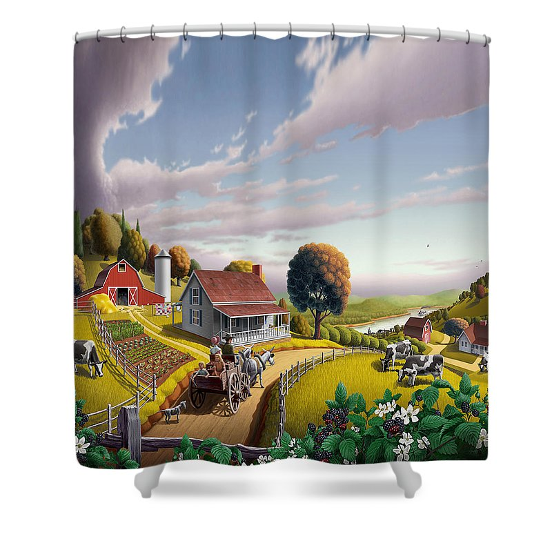 Dutch Landscape Shower Curtains