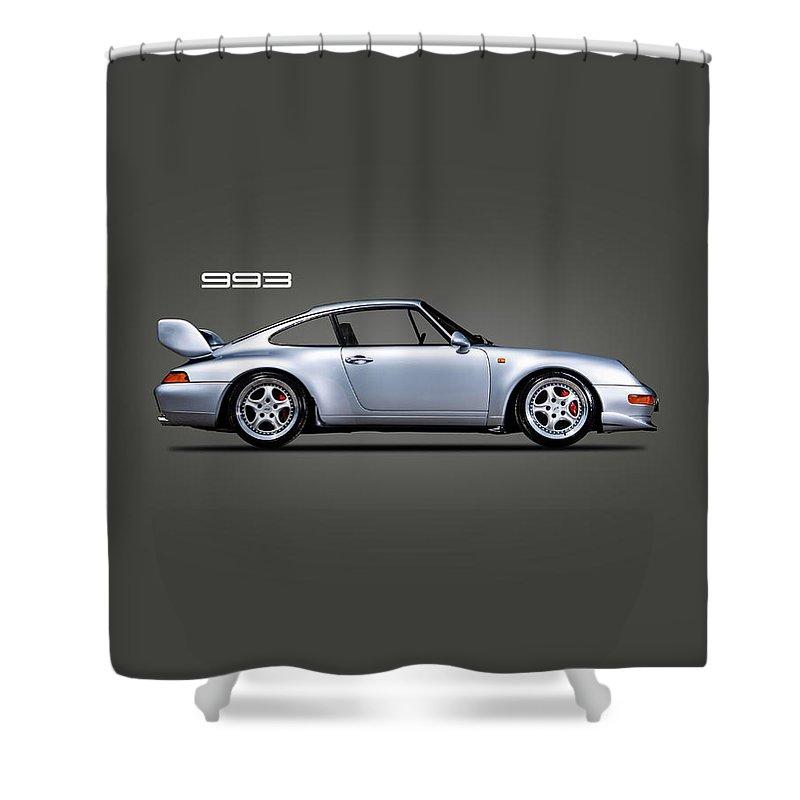 Porsche 993 Shower Curtain featuring the photograph Porsche 993 by Mark Rogan