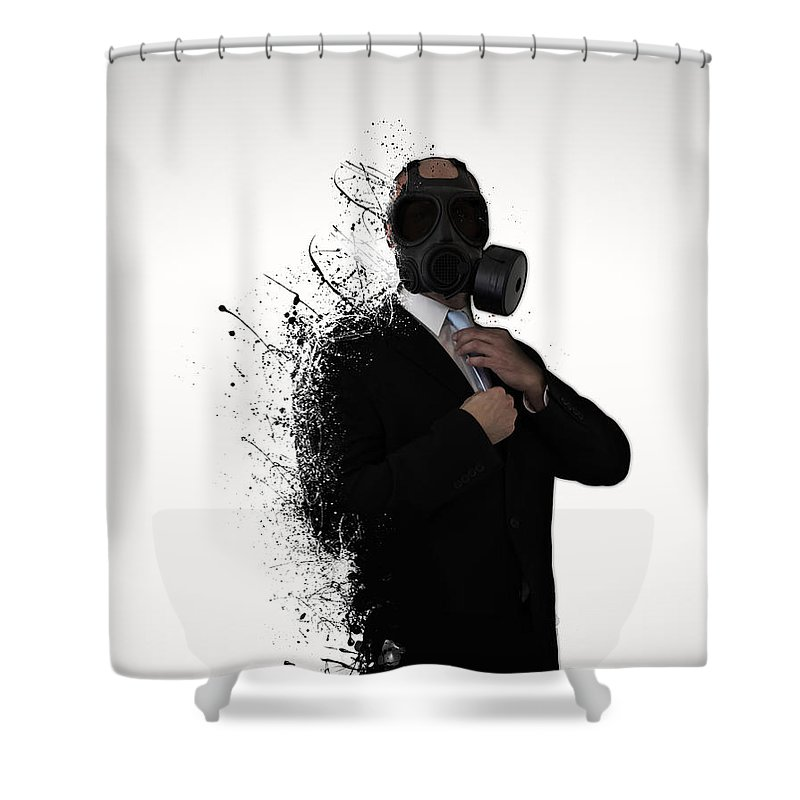 Gas Shower Curtain featuring the photograph Dissolution of man by Nicklas Gustafsson