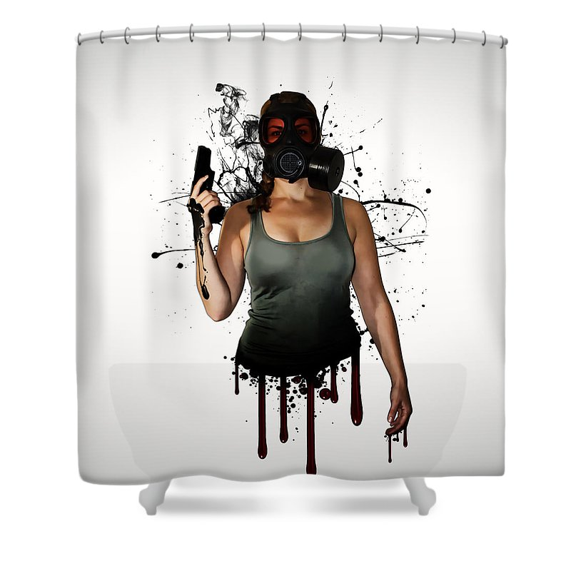 Weapon Shower Curtains