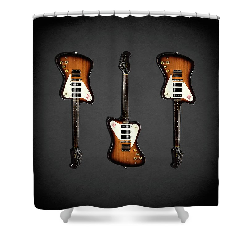 Gibson Firebird Shower Curtain featuring the photograph Gibson Firebird 1965 by Mark Rogan