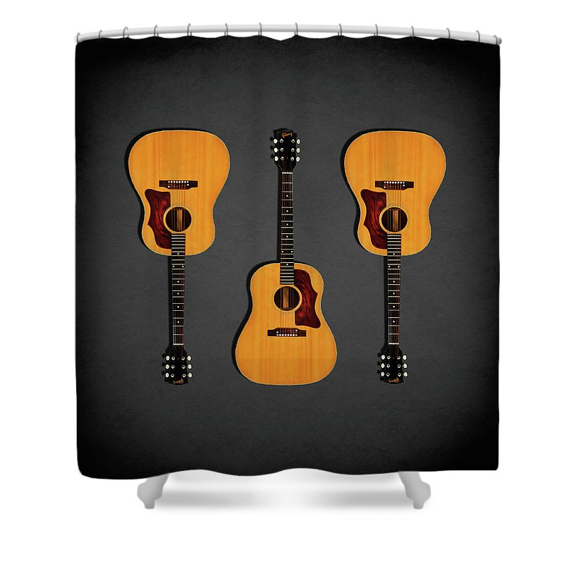 Gibson J-50 Shower Curtain featuring the photograph Gibson J-50 1967 by Mark Rogan