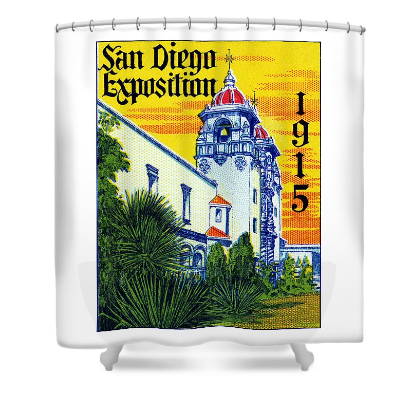Historicimage Shower Curtain featuring the painting 1915 San Diego Exposition by Historic Image