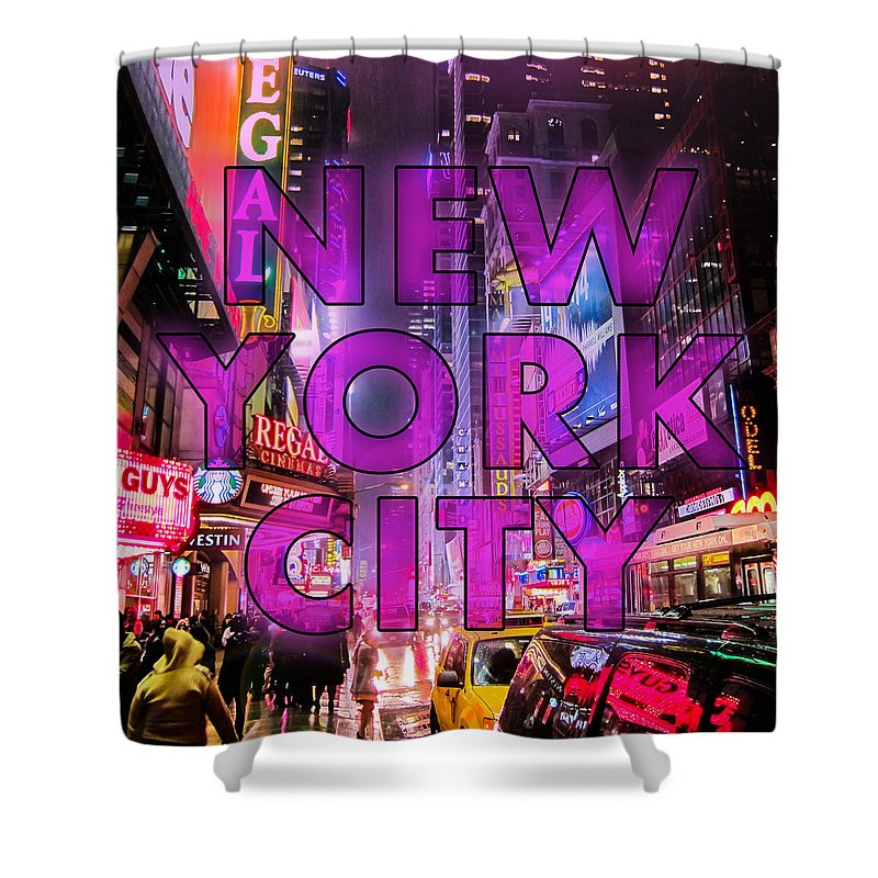 New York Shower Curtain featuring the photograph New York City - Color by Nicklas Gustafsson