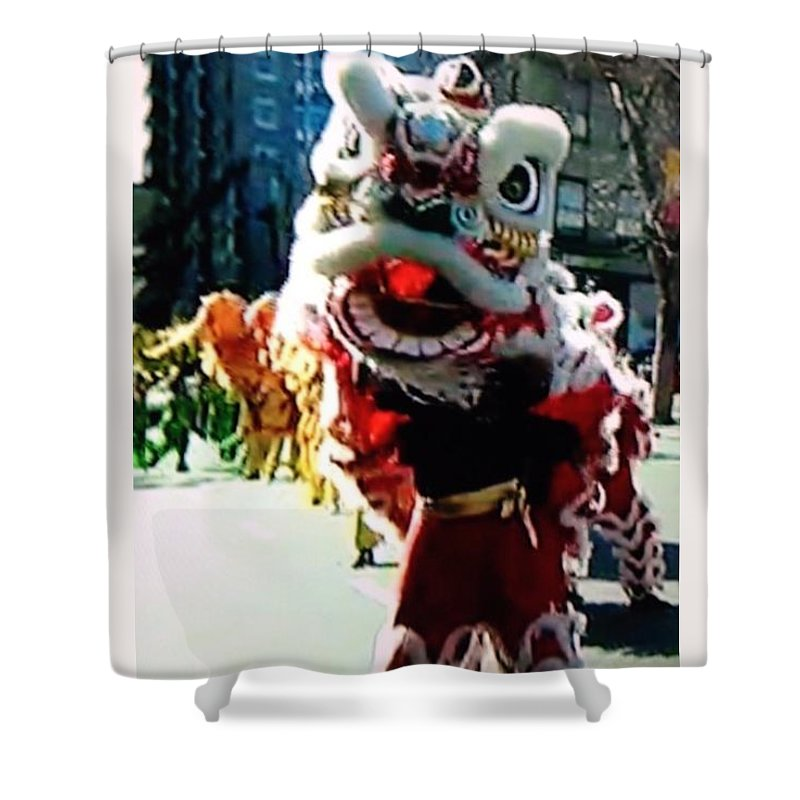 Dragon Shower Curtain featuring the photograph Chinese Dragon by William Stover