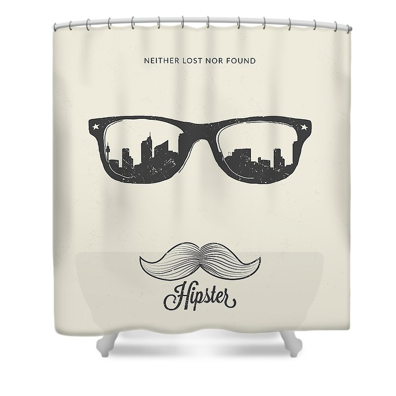Hipster Shower Curtain Featuring The Mixed Media Neither Lost Nor Found By BONB Creative