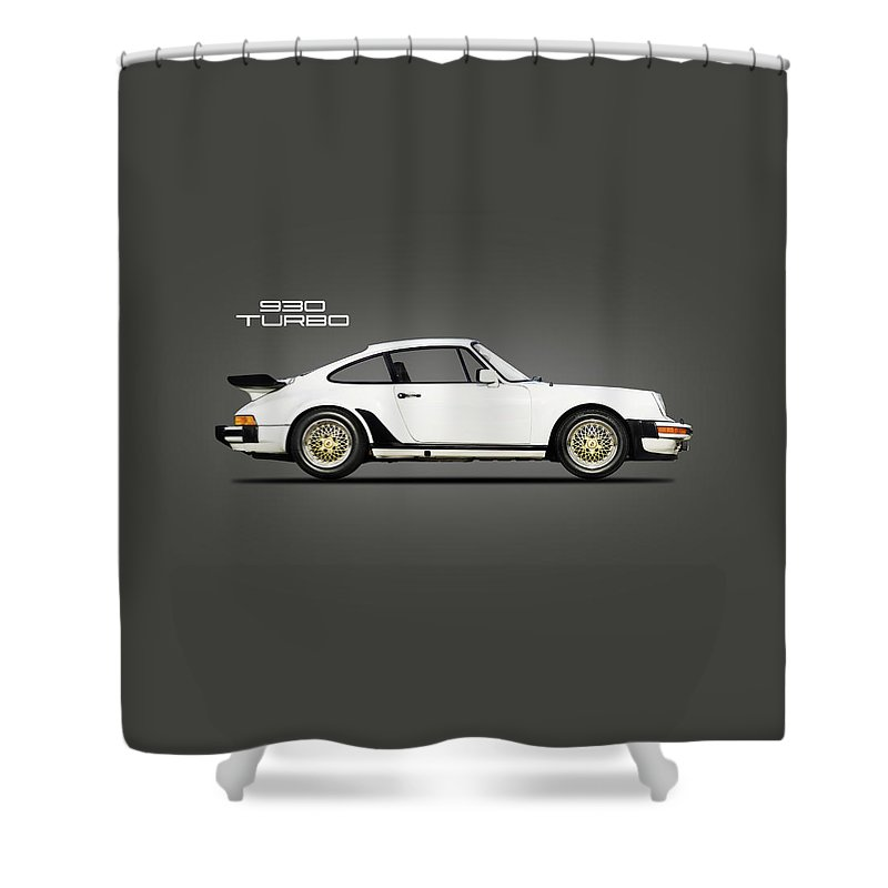 Porsche 930 Turbo Shower Curtain featuring the photograph The 930 Turbo by Mark Rogan