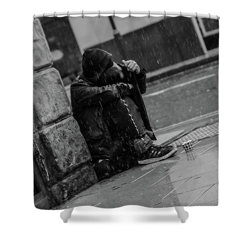 Rain Shower Curtain featuring the photograph Rainy Days by Lee Pirie