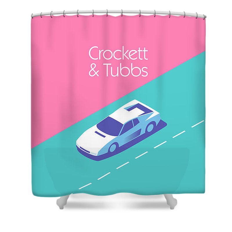 Miami Shower Curtain Featuring The Digital Art Vice Crockett Tubbs