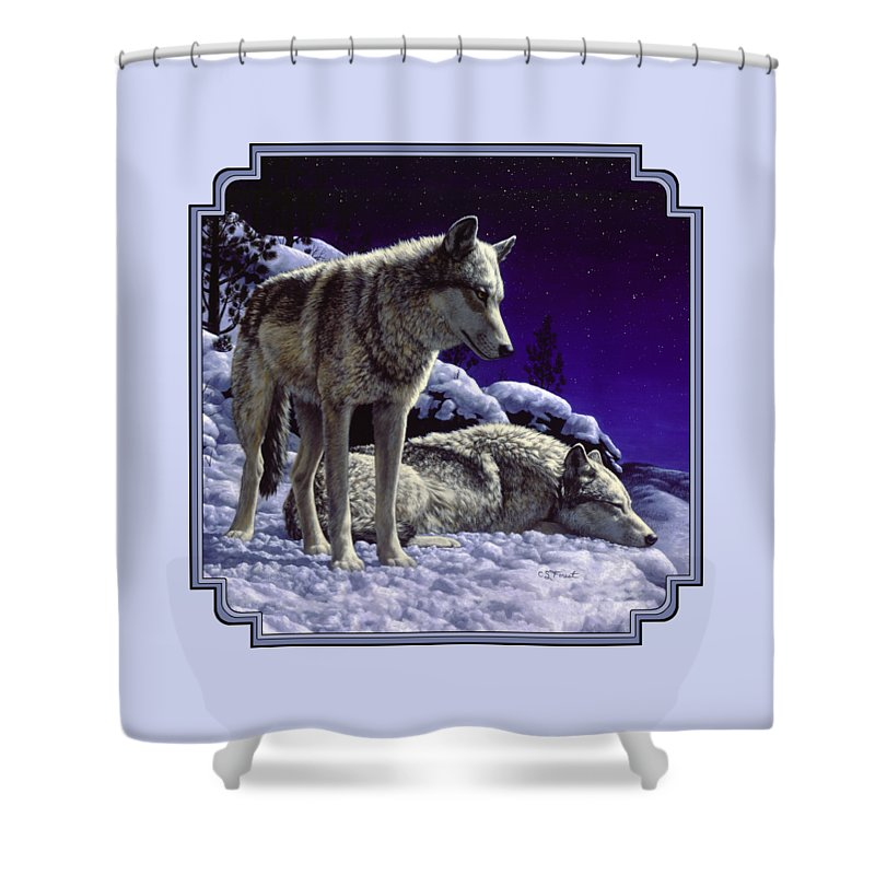Wolves Shower Curtains
