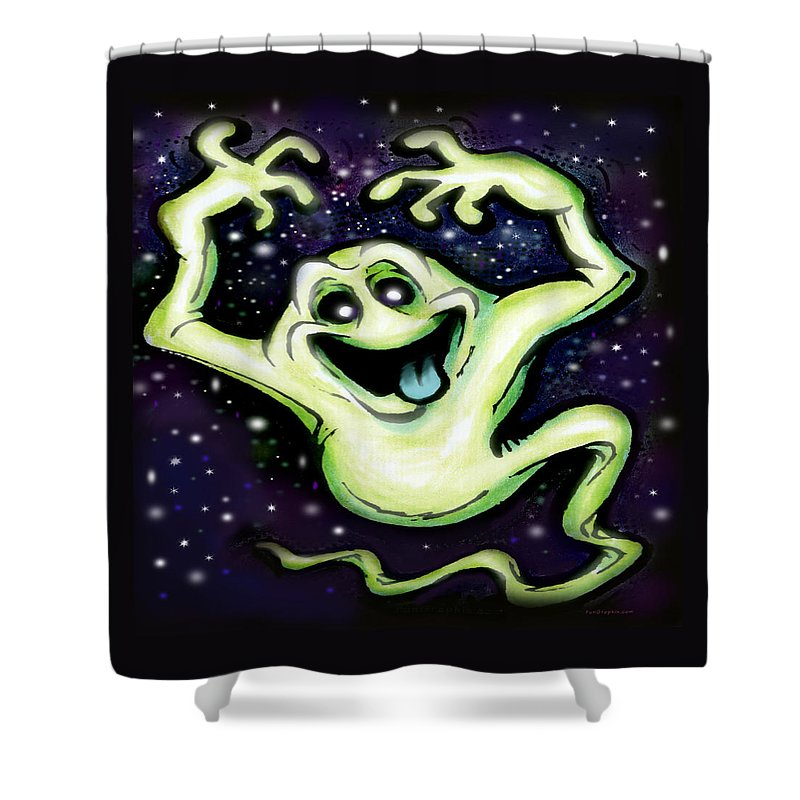 Halloween Shower Curtain featuring the painting Ghost by Kevin Middleton