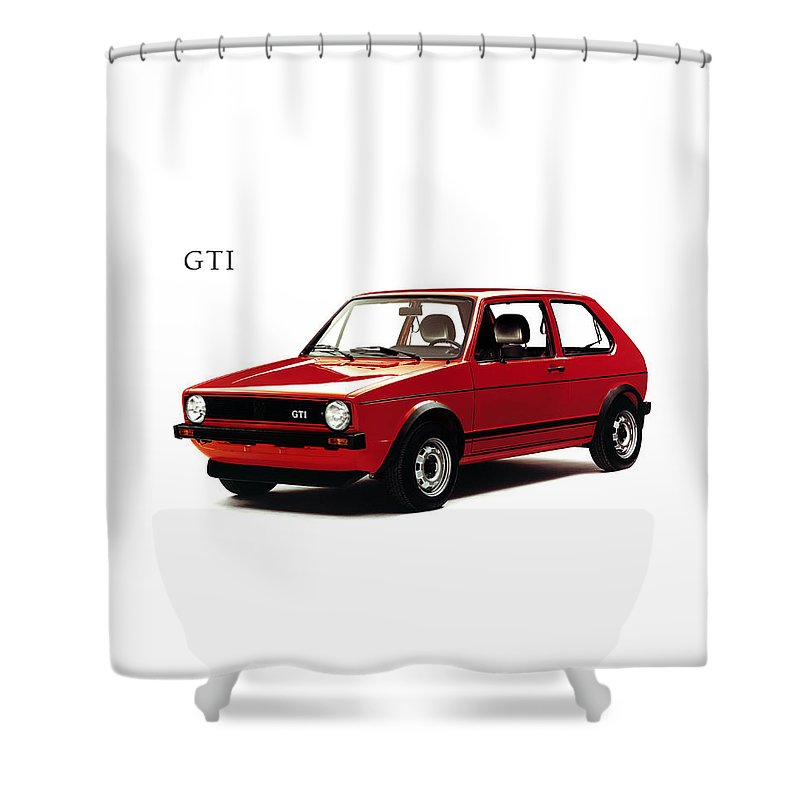 Vw Shower Curtain Featuring The Photograph Golf Gti 1976 By Mark Rogan