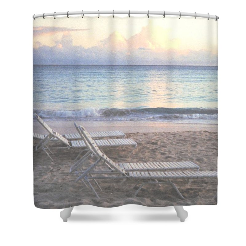 Aruba Shower Curtain featuring the photograph Aruba Beach by Ian MacDonald