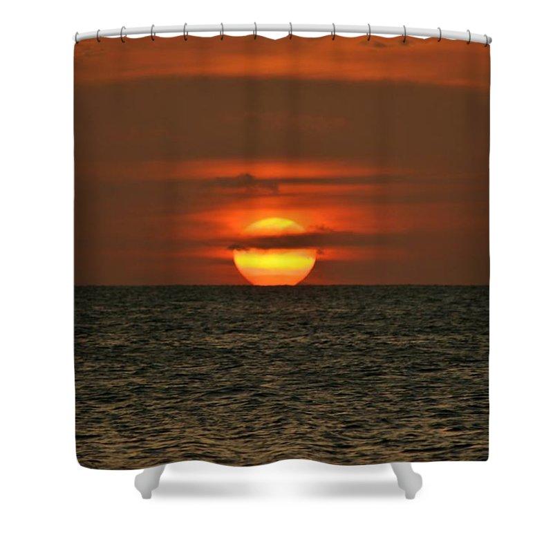Aruba Shower Curtain featuring the photograph Arubian Sunset by DJ Florek