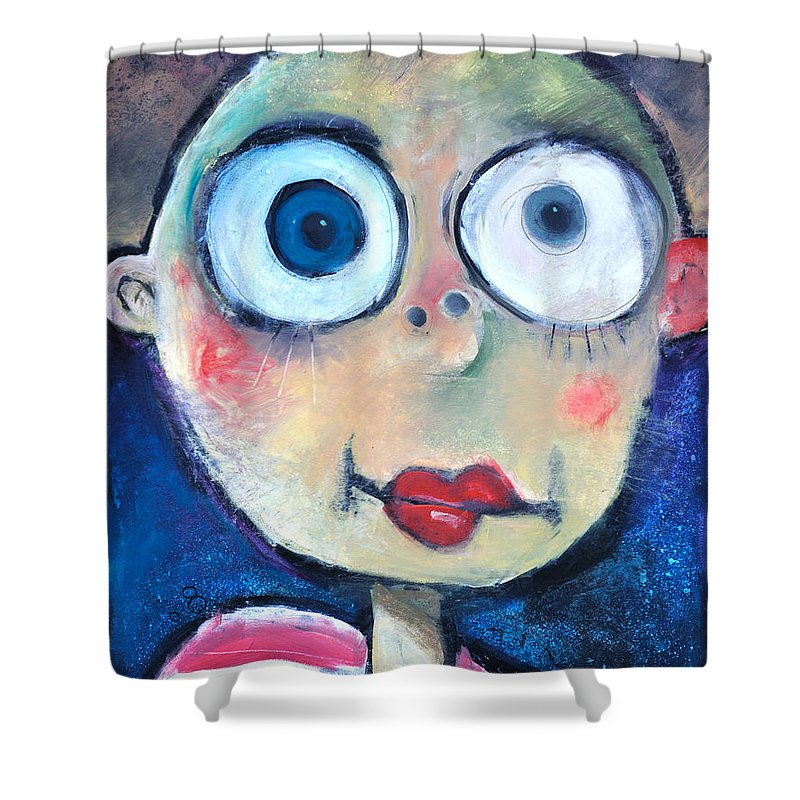 Child Shower Curtain featuring the painting As A Child by Tim Nyberg