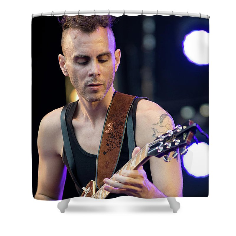 Asaf Shower Curtain featuring the photograph Asaf Avidan - 001 by Olivier Parent