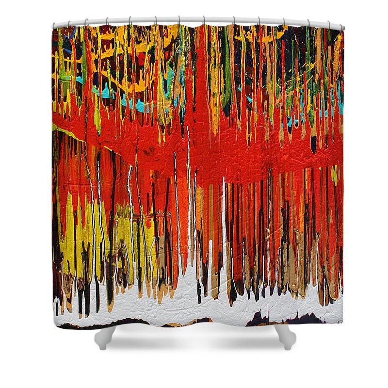 Fusionart Shower Curtain featuring the painting Ascension by Ralph White