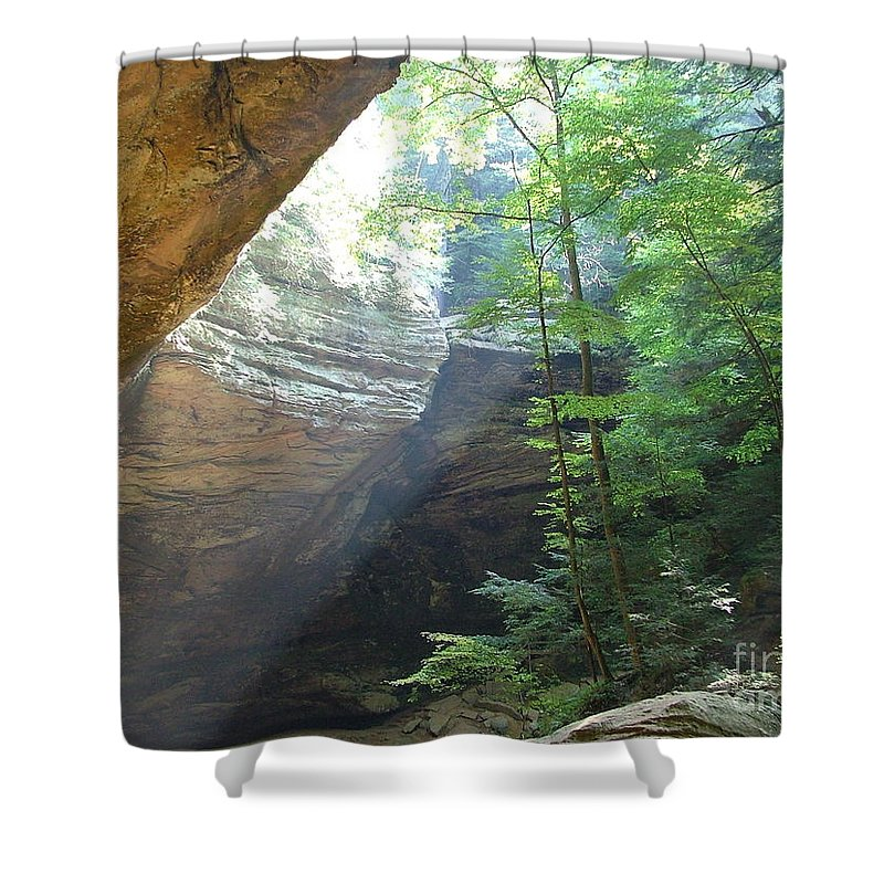 Photograph Shower Curtain featuring the photograph Ash Cave by Mindy Newman