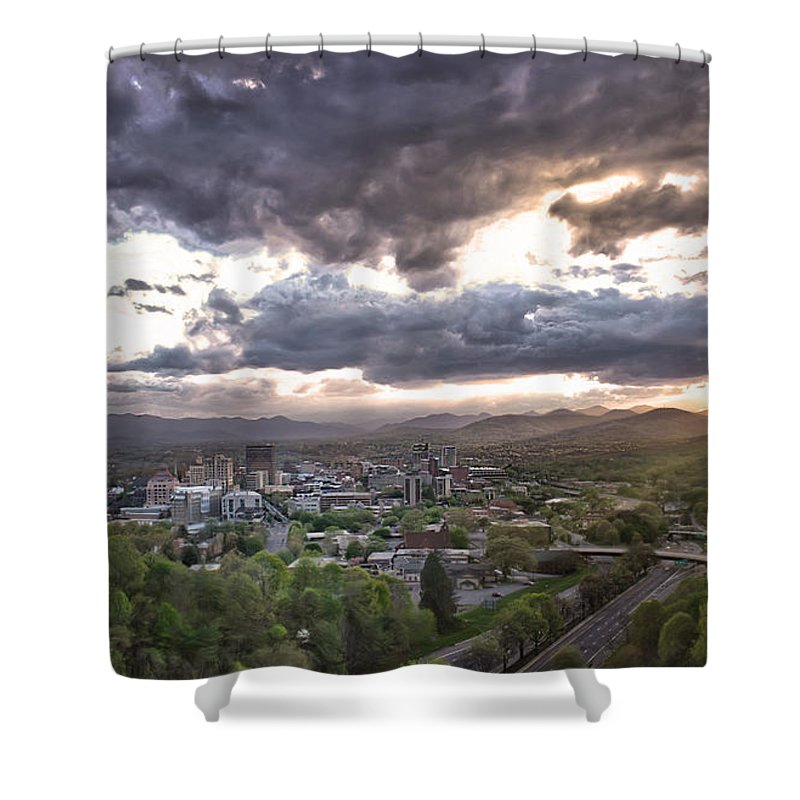 Asheville Shower Curtain featuring the photograph Asheville Nc by Micah Mackenzie