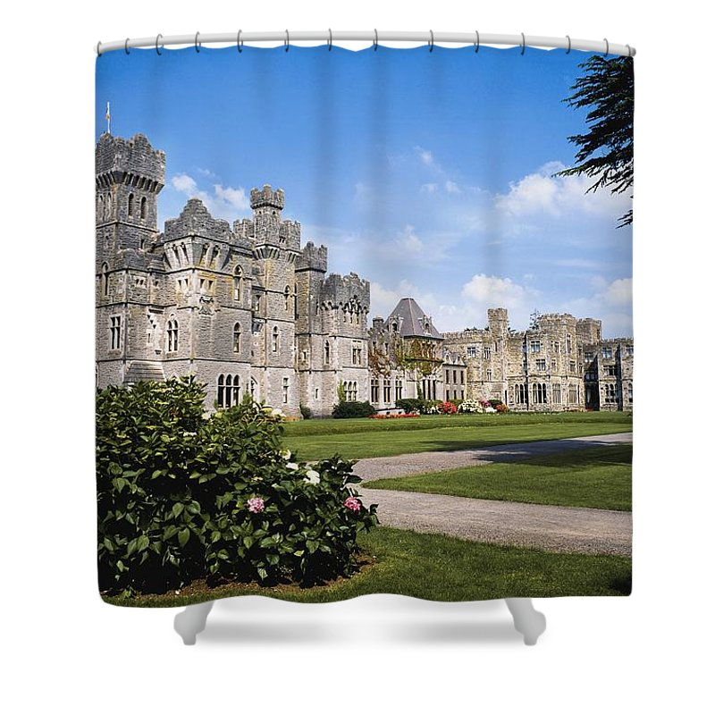 Day Shower Curtain featuring the photograph Ashford Castle, County Mayo, Ireland by The Irish Image Collection