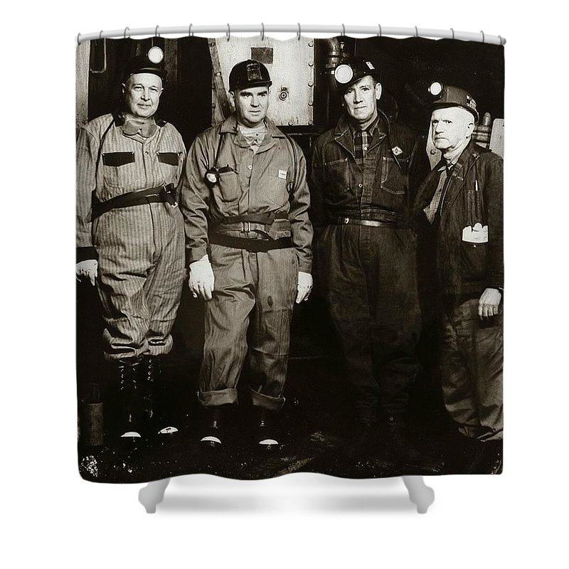 Ashley Shower Curtain featuring the photograph Ashley Pa Glen Alden Coal Co Huber Coal Breaker 1962 by Arthur Miller