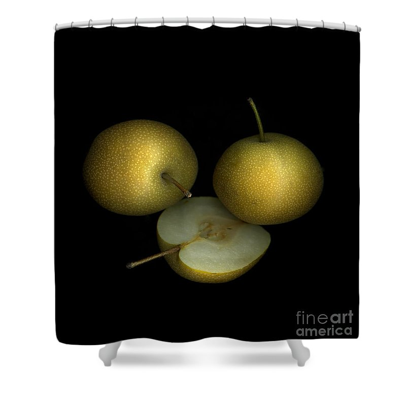 Culinary Shower Curtain featuring the photograph Asian Pears by Christian Slanec