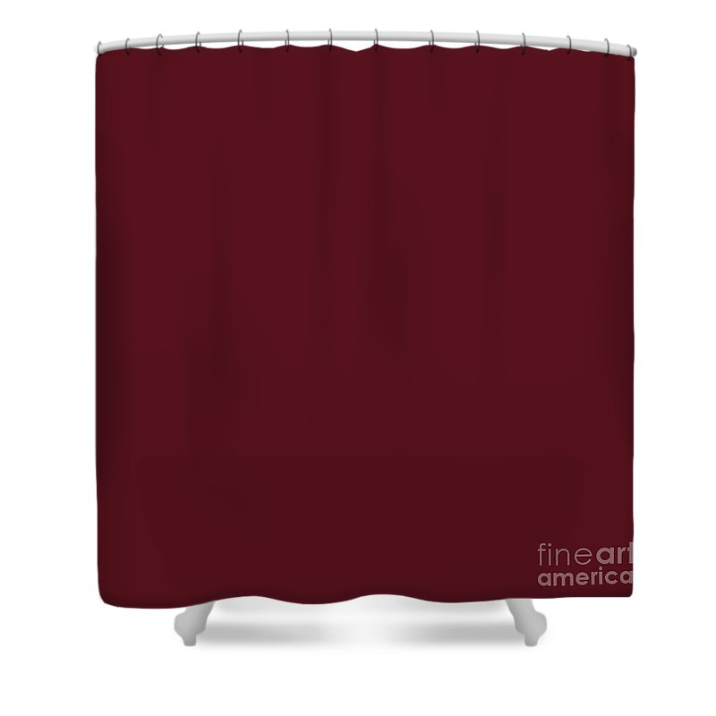 Asiatic Lily Shower Curtain Featuring The Digital Art Flower Maroon Red Solid Color By