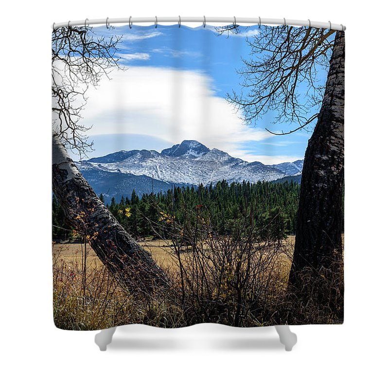 Aspen Shower Curtain featuring the photograph Aspen Frame Fall by Paul Moore