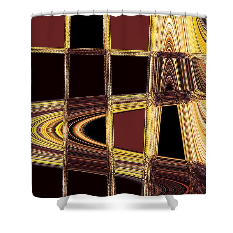 Abstract Shower Curtain featuring the photograph Aspen Grove Abstract by Norman Andrus