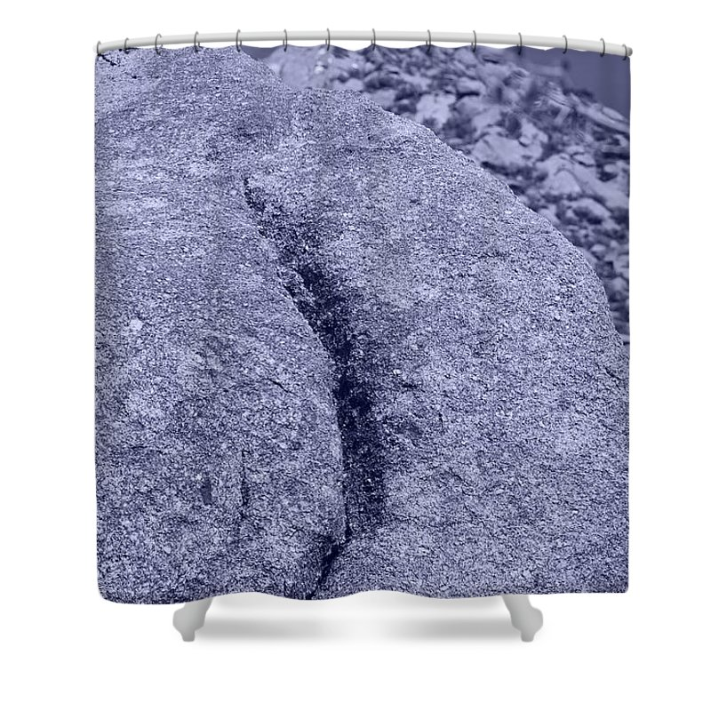 Pop Art Shower Curtain featuring the photograph Ass Crack New Mexico In Cyan by Rob Hans