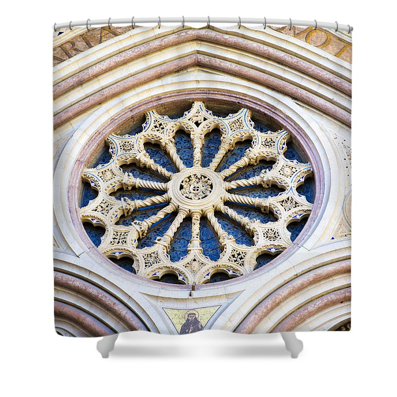 Church Shower Curtain featuring the photograph Assisi Plenaria Design by Marilyn Hunt